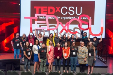 Staff and speakers at the TEDxCSU conference at Colorado State University, March 5, 2016