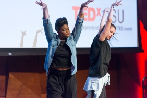 S4ssTr4in (Mo Wells and Company) performs at the TEDxCSU conference at Colorado State University, March 5, 2016